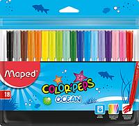 Фломастеры Maped Colorpeps набор 18 цветов