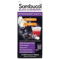 Sambucol, черная бузина, витамин C и цинк, 15 шипучих таблеток