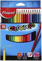 """Набор цветных карандашей """"Maped"""" цветов 18"""