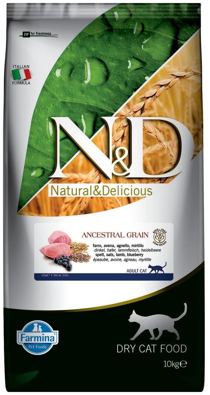 Farmina N&D Сухой корм для кошек Ягненок черника