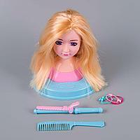 Baby: Кукла-манекен для создания причесок с акссесуарами для волос, блондинка