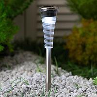 Садовый светильник на солнечной батарее Smartbuy, нерж. сталь, пластик, МИКС 4x4x27.5 см