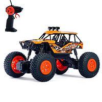Джип радиоуправляемый «Кросс», работает от батареек, цвет оранжевый
