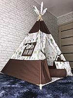 Детский вигвам 4-гранный Ловец снов/коричневый