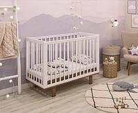 Кроватка детская Polini kids Simple 340, белый- дуб