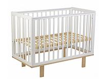 Кроватка детская Polini kids Simple 340, белый-натуральный