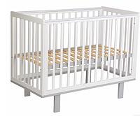 Кроватка детская Polini kids Simple 340, белый-серый