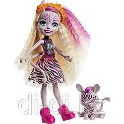 Кукла Enchantimals Зейди Зебра и Реф