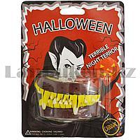Накладные зубы вампира Halloween желтые