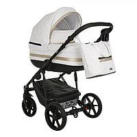 Детская коляска Pituso Luna 2 в 1 Кожа White/Gold