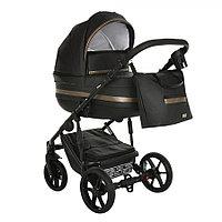 Детская коляска Pituso Luna 2 в 1 Кожа Black