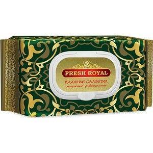 Fresh Royal №120 влажные салфетки очищающие универсальные с пластиковым клапаном