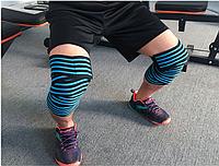 Поддержка эластичный бандаж бинт (наколенник, налокотники, голеностоп) для тяжелой атлетики длина 180 см Алмат, фото 1