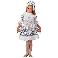 Карнавальный костюм 'Снегурочка Внучка', блузка, юбка, головной убор, р. 30, рост 116 см
