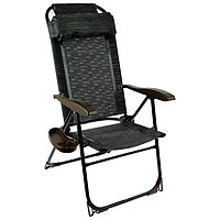 Кресло-шезлонг с полкой КШ2/5, 75 x 59 x 109 см, венге