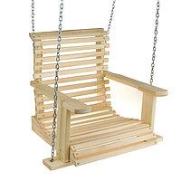 Качели подвесные, деревянные, сиденье 50x65см