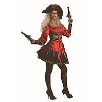 Карнавальный костюм 'Пиратка', р. 48, рост 170 см