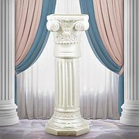 Подставка напольная 'Колонна Акрополь' белая, 75 см