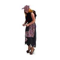 Карнавальный костюм 'Баба-яга', р. 44-50, рост 170 см, цвета МИКС