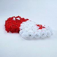 Украшение на авто 'Сердца', 52х90х5 см, бело-красное