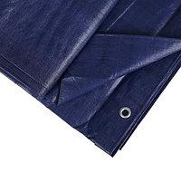 Тент защитный, 6 x 4 м, плотность 180 г/м, люверсы шаг 1 м, тарпаулин, УФ, синий