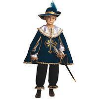 Карнавальный костюм 'Мушкетёр', бархат, размер 30, рост 116 см, цвет синий