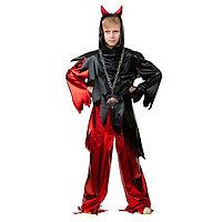 Карнавальный костюм 'Демон', рубашка, брюки, р. 34, рост 140 см