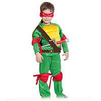 Карнавальный костюм 'Ниндзя. Черепашка Рафаэль', текстиль, р-р 28-30, рост 92-110 см