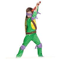 Карнавальный костюм 'Ниндзя. Черепашка Донателло', текстиль, р-р 28-30, рост 92-110 см