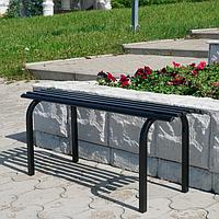 Скамья садовая, металлическая 101 х 35 х 42 см, без спинки, 'Скамейка 1', черная