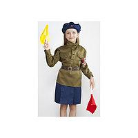 Военный костюм 'Регулировщица', 5-7 лет, рост 122-134 см