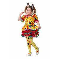 Карнавальный костюм 'Хлопушка', сатин, платье, ободок, р. 34, рост 134 см