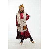 Карнавальный костюм 'Баба-Яга', юбка, блуза, жилет, фартук, головной убор, р. 30, рост 122 см