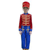 Карнавальный костюм 'Гусар', кивер, сюртук, штаны, рост 122 см