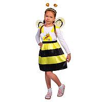 Карнавальный костюм 'Пчёлка Жужа', сарафан, ободок, крылья, р. 32, рост 122-128 см