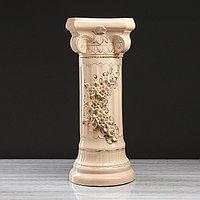Колонна 'Греция', цветы, лепка, 80 см