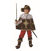 Карнавальный костюм 'Мушкетёр короля', (бархат, парча), размер 38, рост 152 см, цвет бордовый
