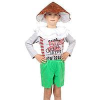 Детский карнавальный костюм 'Гриб Боровик', 3 предмета, на рост 122-134 см