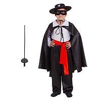 Карнавальный костюм 'Зорро', р. 34, рост 134 см