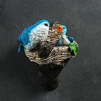 Подвесной декор 'Птицы в гнезде' 12х14х24см