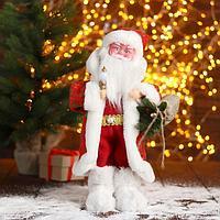 Дед Мороз 'В красной шубе с подарками' 23х40 см