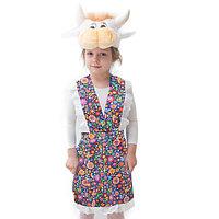 Карнавальный костюм 'Корова', шапка, передник, 5-7 лет, рост 122-134 см