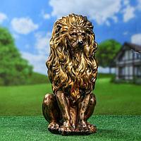 Статуэтка 'Лев', бронзовый цвет, 52 см