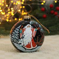 Ёлочный шар d-10 см 'Дед Мороз' ручная роспись
