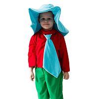 Карнавальный костюм 'Незнайка', шляпа, рубашка, галстук, бриджи, 5-7 лет, рост 122-134 см