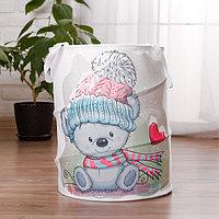 Корзина для хранения игрушек 'Мишка' 35x35x45 см