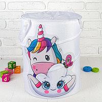 Корзина для хранения игрушек 'Единорог' 35x35x45 см