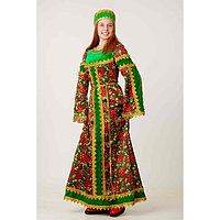 Комплект костюмированный 'Сударыня', хохлома зелёная