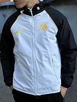 Куртка lakers бел чер рукав, фото 1
