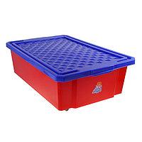 Ящик для игрушек Little Angel 'Лего' с крышкой, 30 л, цвет красный